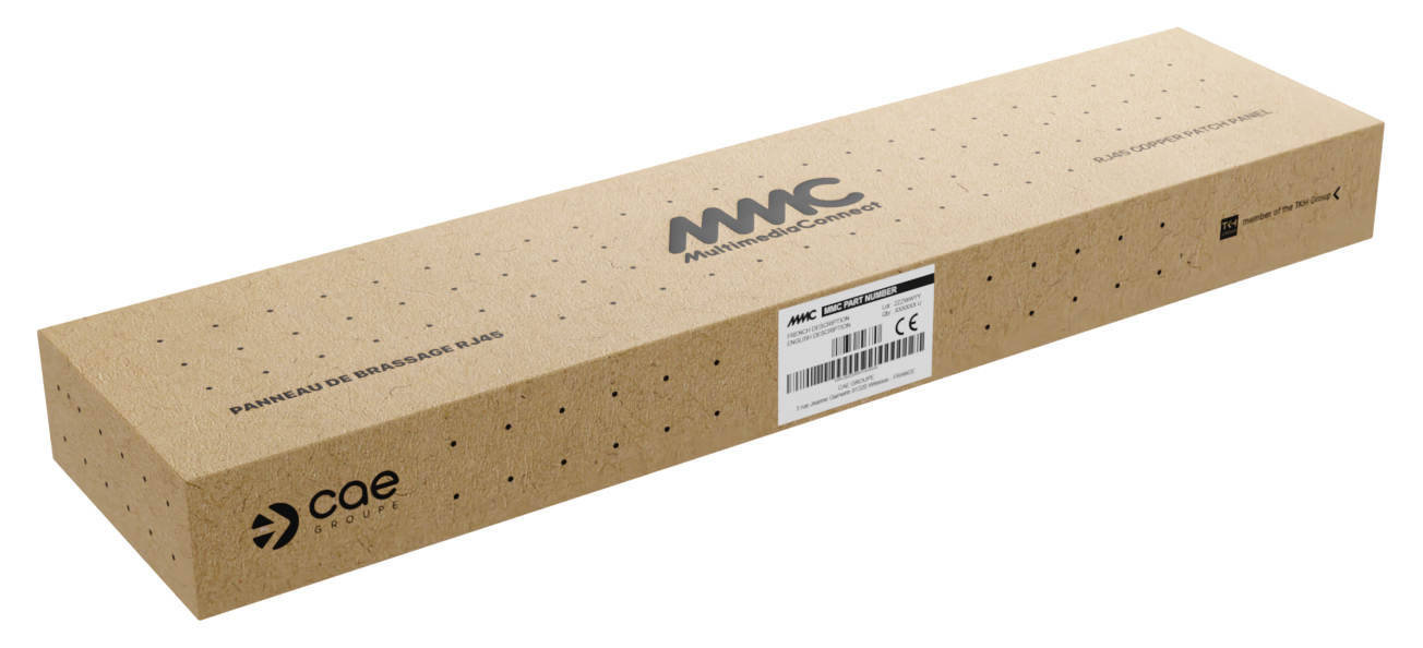 """100% recyclable packaging - 19"""" panel"""